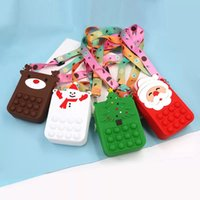 2022 Christmas Decompression Toy Change purse Cartoon bag Christmas de-stress Toy Children New Year Gifts
