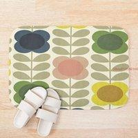 Mat Orla Kiely Design Padrão 3d Impressão de Banho Mats Anti Slip Soft Washable Banheiro