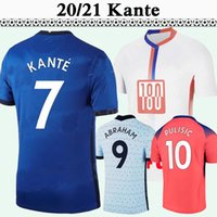 20 21 Ziyech Pulisic Mens Futebol Jerseys Kante Giroud Lampard Werner Jorginho Kovacic Lampard Home Azul Away 3ª Camisa de Futebol Manga Curta