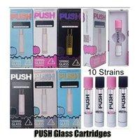 Push Glass Cartouches de Vape Atomizer 1.0ml Céramique 510 Fil Discorce de l'huile de filetage Cadeau Cadeau Boîte d'emballage Emballage Vaporisateur vide Pen pour la batterie de préchauffage