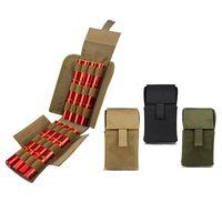 Тактические пакеты 25 раунд дробовик дробовик перезагрузка держатель быстрых доступа молла сумка мешок боеприпасов для 12 калибра / 20г