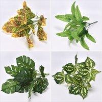 Potted planta parede material decoração simulação cola verde abacaxi persia folha grama falsa