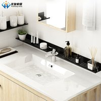 30-50cm Punch-Free Bathroom Accessories Wall-Mounted Faucet Cosmetic Storage Rack Mirror Front Shelves A0609