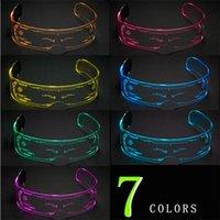 Parti Malzemeleri LED Gözlük Yaratıcı Flaş Işık Gözlük LED Işık Gözlük Gelecek Teknoloji Gözlükler Bar Flaş GözlüklerZC211
