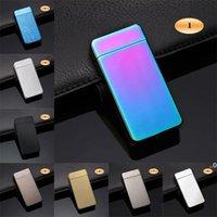USB Şarj Elektronik Çakmak Çift Yangın Çapraz İkiz Ark Darbe Taşınabilir Metal Rüzgar Geçirmez Çakmak EWD8273