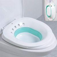 Bathing Tubs & Seats Folding Woman Bidet Sauna Hip Irrigator Perineum Soaking Bath Pregnant Bathtub For Anal Shower Wash Basin Toilet