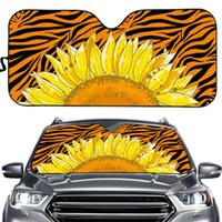 Shade Pretty Sunflower Pattern Design Sunshade For Car Window UV Protect Durable Visor Universal Size Fit Almost Auto Windshield Cover