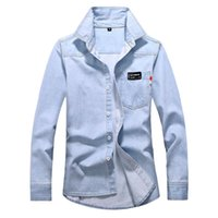 Men's Jackets Autumn And Winter Tops Casual Retro Wash Old Denim Fall Lapel Long Sleeve Jacket Top#y5