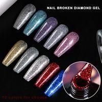 Mode Disco Diamanten Blaze Gelpolish Senak Off Semi Dauerhaft UV Gel Nagellack Silber Top Mantel Nägel Kunst Maniküre in 2021 DIY