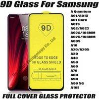 9D Protecteur d'écran de téléphone en verre trempé de la couverture de Samsung Galaxy A01 A01S A02 A022 A02S A03S A20 A30 A30 A40 A60 A70 A90 A90 5G A10E A Quantum