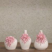 花瓶セラミック花瓶モダンスタイリッシュな菊飾り陶器花の装飾ギフト