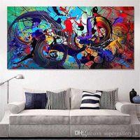 Pinturas Pintadas a mano HD Imprimir Arte abstracto moderno Pintura al óleo sobre lienzo, Decoración de la pared para el hogar Multi Tamaños / Opciones de marco G192 7HFE