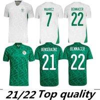 2021 2 Yıldız Afrika Kupası Cezayir Futbol Formaları Eve Uzakta Afcon Mahrez Feghouli Brahimi Bounedjah Bouazza Cezayir Jersey Futbol Gömlekleri