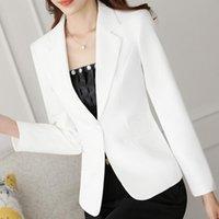 여성용 스위트 블레이저스와 우아한, 고품질 오른쪽 재킷 블레이저 Femme Feminino 코트 색상, 매끄러운 사무실 레이디 스타일 캔디 탑 무거운