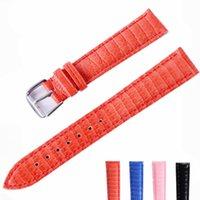 Bandes de montre Graine de lézard rouge 12 14 16 18 20 22mm Véritable bande de vachette en cuir bracelet de bande de la surface lumineuse