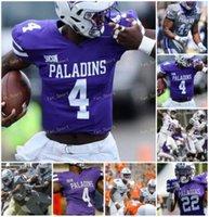 NCAA College Jerseys Furman Paladins 25 Carson Maples 32 Devin Abrams 83 Ryan Deluca 82 Ryan Miller 89 Thomas Gordon 맞춤형 축구 스티치