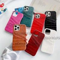 Capas de telefone multi-cor de couro para iPhone 12 pro max casos de luxo com marca designer cartão de bolso Phonecase Phone11 12Pro 11xs xsmax xr 8plus 8 7plus