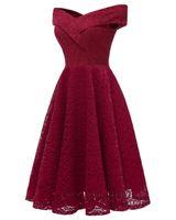 2021 Lace Off Shoulder Short Pink Graduation Homecoming Dress Molel Pictures Knee Length High-Quality Bridesmaid Dresses