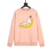 Alta Qualidade Designer Hoodie Mens Skate Sweatshirts Manga Longa Camisas Hoodies Mulheres Banana Moda Roupas Impresso Letra Love Sweater Casual 100% Algodão