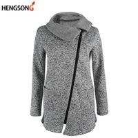 Женские куртки Hengsong Plus Размер 5XL Женщины осень зимняя одежда теплый флис куртка наклон молнии ворчан пальто леди одежда женщина