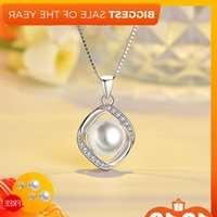 Fashion Chain S925 Sterling Silver Jewelry With Freshwater Pearl Zircon Precious Stone Hanger For Women Wedding Promise Ornaments