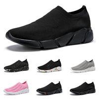 الأزياء جورب أحذية الرجال النساء قماش رياضة الانزلاق على الثلاثي أسود أبيض وردي رجل مدرب رياضة رياضية الحجم 36-45