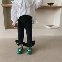 Trousers 2021 Girls Boys Ruffles Long Pants Autumn Cotton Fashion Kids 1-7t CO744
