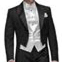 Men's Suits & Blazers 2015 Tailcoat Black Double-breasted Groom Tuxedos Peak Lapel man Groomsman Men Wedding Bridegroom (Jacket+Pa