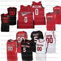 Personalizado Texas Tech College Basketball Jerseys 25 Burnett 14 Santos-Silva 10 Malik Ondigo 21 Khavon Moore 5 Peevo 11 Edwards 33 Jason Sasser
