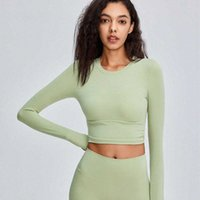 Sexy Bandage Sports T-shirt Women's Tight Long Sleeve Tops Yoga Gym Clothes Elastic Fast Drying Running Fitness Shirt 05N6#