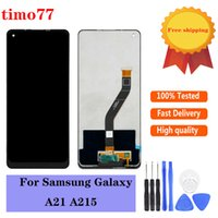 Original Display Panels For Samsung Galaxy A21 A215 Lcd Touch Screen Digitizer Assembly Replacement test strictly with glass tempered