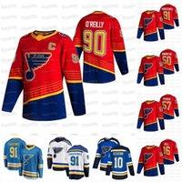 90 Ryan O'Reilly St. Louis Blues 2021 عكس الرجعية جيرسي فلاديمير تاراسينكو بافيل بوشنيفيتش بريت هول بينينجتون بردقين شين جادن شنارتز