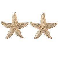 Stud Gold Color Big Earings Women 2021 Stars Geometric Statement Earring Large Metal Starfish Earrings Summer Fashion Jewelry