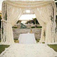 Decorative Flowers & Wreaths 100CM Simulation Artificial Cherry Blossom Silk Party Wedding Ceiling Decoration Fake Garland Bow Ivy DI
