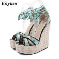 Eilyken Hohe Qualität Seide Knöchel Lace-up Frauen Platform Sandalen Sommer Mode Peep Toe Weave Wedges Heels Sexy Schuhe 210619 TQ2FXKP7