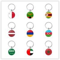 몰타 잠비아 짐바브웨 라트비아 아르메니아 아제르바이잔 사우디 아라비아 UAE 모로코 유리 카보 숑 내셔널 플래그 Keychain Keyholder 선물