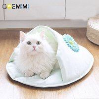 Cat Cave Flip Flop Shape House Warm Kennel Kittens Bed Beds Cats Products For Pets Cama Para Gato Kennels & Pens