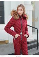 Новый блестящий серебряный золотой цельный лыжный костюм высокое качество женское зимнее длинное пальто с капюшоном комбинезон для женщин зимние куртки