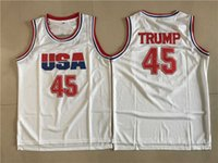 Hightower Crenshaw 44 Bryant College Basketball porte Baseball Donald 45 Trump Shirt Blanc Uniformes Punahou Barack 23 Obama Football High High