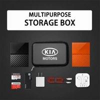 Interior Decorations Car Logo Portable Storage Box 3C Digital Driving License ID Card Bag For KIA Sid Rio Soul Sportage Ceed Picanto Sorento