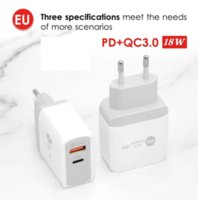 Wall Charger QC3.0+PD18W US EU UK Plug Ports Charging Quick Charge for Smart Phone Huawei Xiaomi Samsung PD18W Mobile Phones Chargers