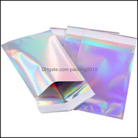 Storage Housekee Organization Home & Gardenstorage Bags Big Size Laser Self-Seal Adhesive Cosmetic Package Bag Jewelry Clear Front Holograph