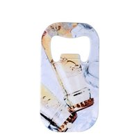 4 Styles Sublimation Blank Beer Bottle Openers Corkscrew DIY Metal Silver Dog Tag Creative Gift Home Kitchen Tool Q136