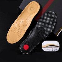 Pie de cuero de vaca Plantilla ortopédica para los zapatos para hombres Mujeres Arch Support Correction Transpirable No Slip Shoe Pad Inserts Gel Cushion