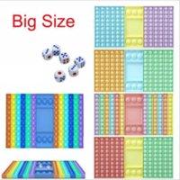US Stock Big Size Fidget Giocattoli Push Bubble per Schoolbag Board Pendant Hot Adult Stress Stress Toy Family Table Board Games Regali di compleanno