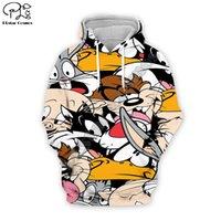 Mens Designer T Рубашки PLSTAR COSMOS BUGS BUNNY Красочный мультфильм трексуита Drop Shipping Harajuku 3DPrint Hoodie / толстовка / куртка / мужчины / женщины S-3