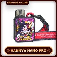 Original Vapelustion Hannya POD Nano Pro E-cigarette Kits 2 Airflows Cotton Cartridge 2ML Electronic Cigarette with 4pcs Replace Panels