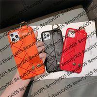 Cassa del telefono di design arancione H per iPhone 13 Pro Max 12 12Pro 11 11Pro X XS Max XR 8 7 Plus Band Band da polso Copertura ape per iPhone12 12mini 78plus B05