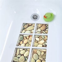 Etiqueta engomada de la bañera impermeable anti resbalón de Funlife 3D, calcomanía de la bañera autoadhesiva, adoquines para niños Mats de baño de ducha Decoración de baño 1884 V2