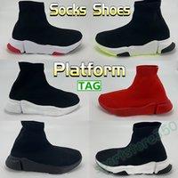 2021 Çorap Ayakkabı Erkek Kadın Rahat Sneaker Üçlü Kırmızı Siyah Beyaz Yeşil Platform Chaussures Moda Erkek Eğitmenler ABD 6-12